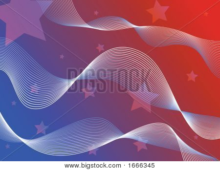 Abstract Flag Background