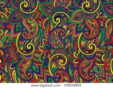 Abstract background is made up of multi-colored patterns.Vector