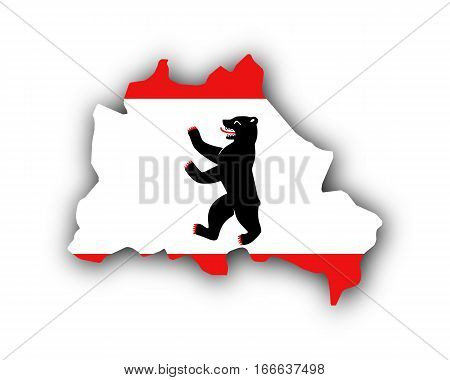 Map And Flag Of Berlin