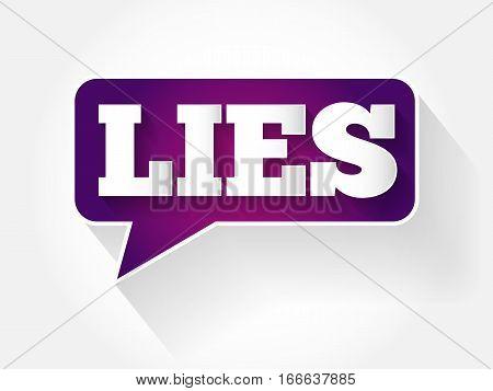 Lies Text Message Bubble