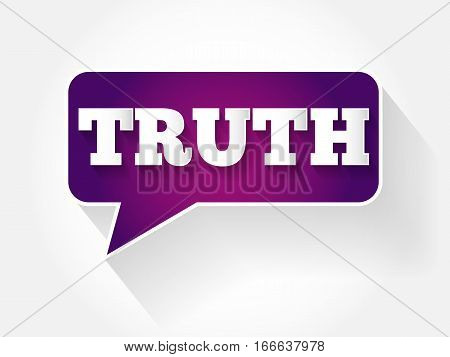 Truth Text Message Bubble