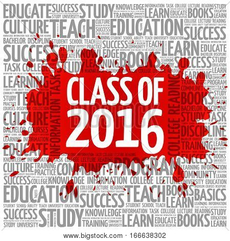 Class Of 2016 Word Cloud, Education Concept