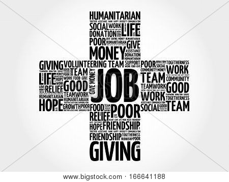 JOB cross word cloud collage , social concept background