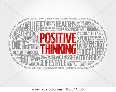 Positive Thinking Medical Pill Word Cloudc