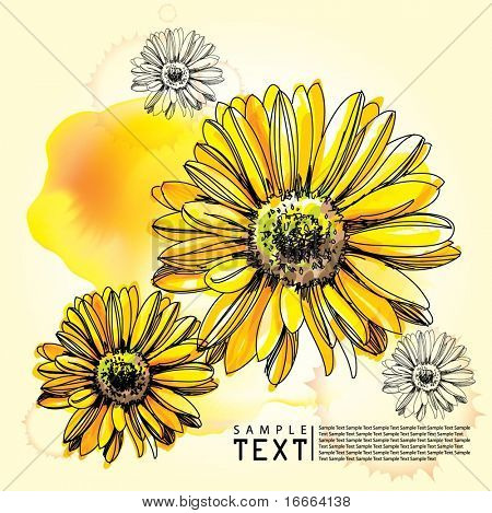 Illustration Flower Background