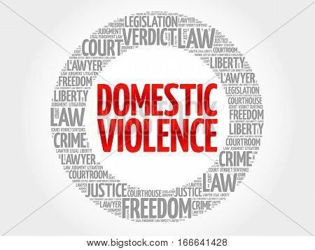 Domestic Violence word cloud , social concept background