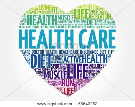 Health Care Heart Word Cloud