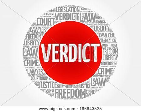Verdict word cloud , social concept background