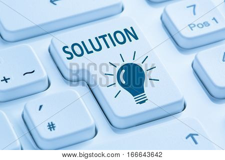 Finding Solution For Problem Conflict Button Internet Blue Computer Keyboard