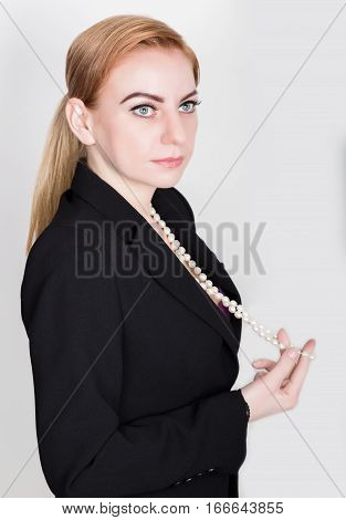 Attractive and energetic business woman