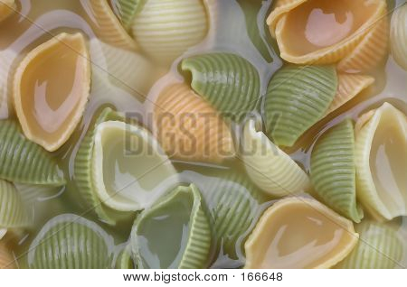 background of pasta in water poster