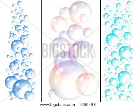 Water And Soap Bubbles