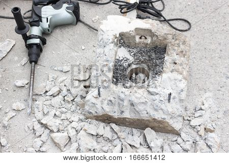 Breaking Concrete  With Drill