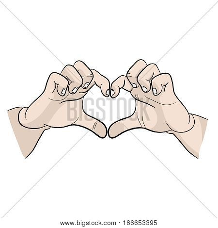 hands symbolize a Declaration of love. I love you icon. hands symbolize a Declaration of love icon. I love you very much icon