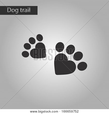 black and white style icon of cat tracks