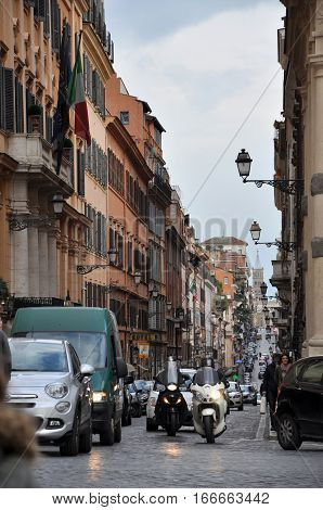 Rome Congested Streets