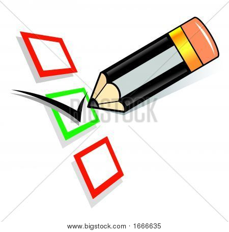 Pencil Filling Empty Checkboxes