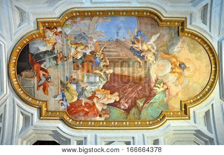 Fresco San Pietro In Vincoli Church. Rome, Italy