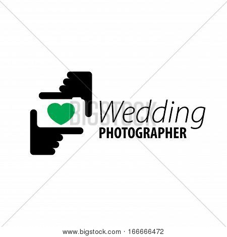 logo wedding photographer. Vector illustration of icon