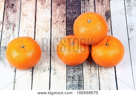 Golden Orange On Wood, To Celebrate For Chinese Festival.