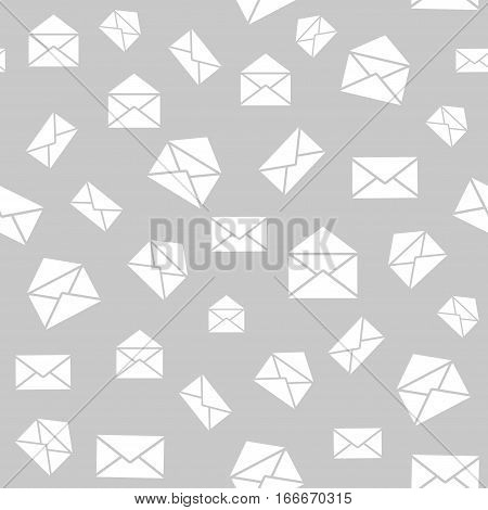 Seamless pattern with mail envelopes. Vector background for postal delivery