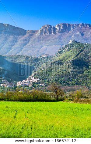 Italy Cilento paesaggio dei monti Aburni nei pressi di Sicignano