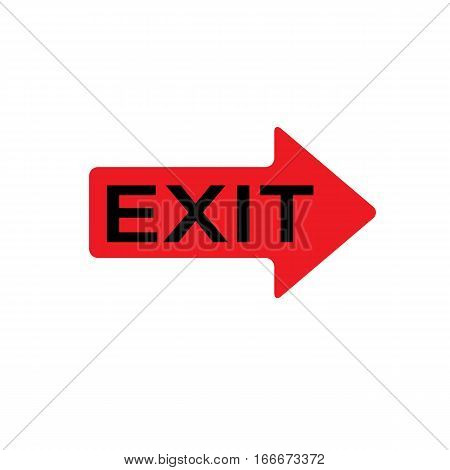 exit icon on white background. exit sign.