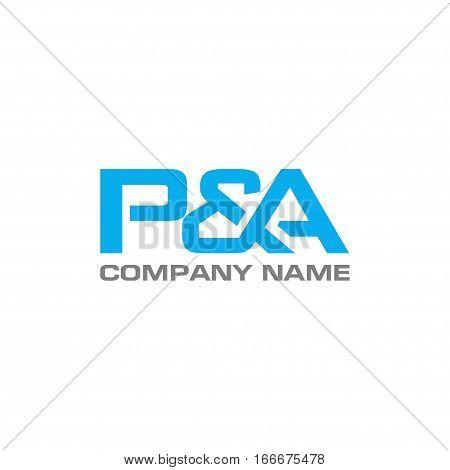 PA letter logo design vector illustration template, P letter logo vector, letter P and A logo vector, creative Letter P&A letter logo