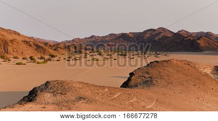 Etosha National Park Mountain landscape in Namibia South Africa