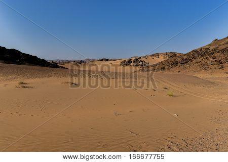 Etosha National Park Mountain landscape in Namibia South Africa