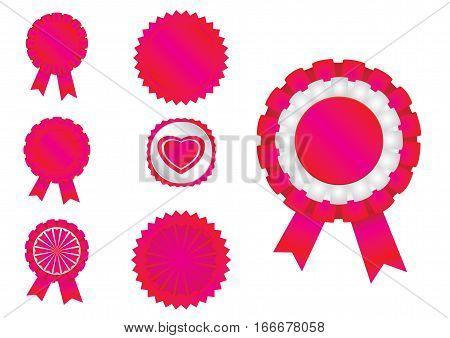 7 different ribbons in vector format .