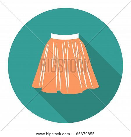 vector round flat icon with short skirt. EPS