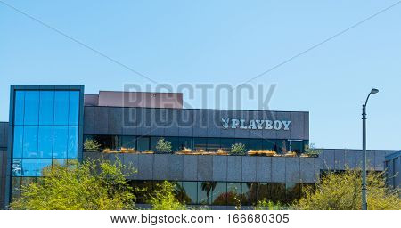 BEVERLY HILLS CALIFORNIA - NOVEMBER 02 2016: Playboy Building in Beverly Hills