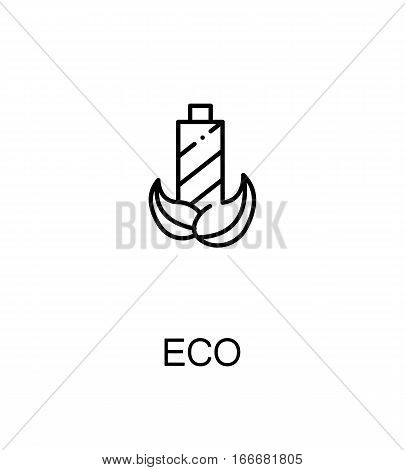 Eco cloud icon. Single high quality outline symbol for web design or mobile app. Thin line sign for design logo. Black outline pictogram on white background