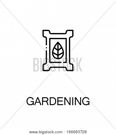 Gardening cloud icon. Single high quality outline symbol for web design or mobile app. Thin line sign for design logo. Black outline pictogram on white background