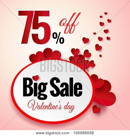 Valentines Day sale flayers. Vector Valentines Day for online shopping website and mobile website banners, posters, newsletter designs, ads, coupons, social media banners.