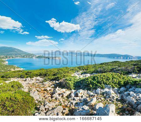 clouds over Capo Caccia bay in Sardinia