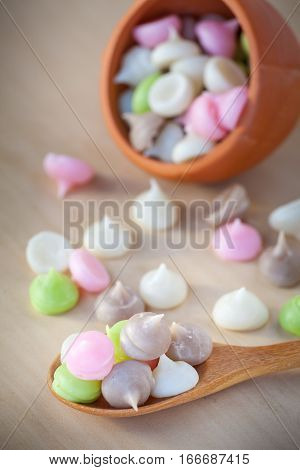 Traditional Thai food style sweet dessert (A-lua)