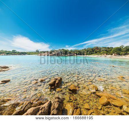 yellow rocks in Costa Smeralda in Sardinia