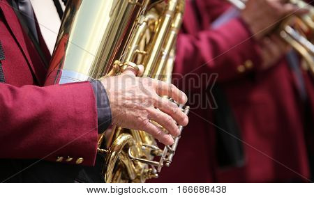 Muscian Player Of Saxophone