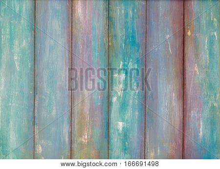 Blue old peeling paint wooden background texture