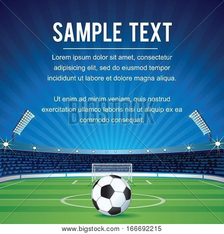 Abstract Sport Soccer Background with Space for text and Design. Champions League Vector Background