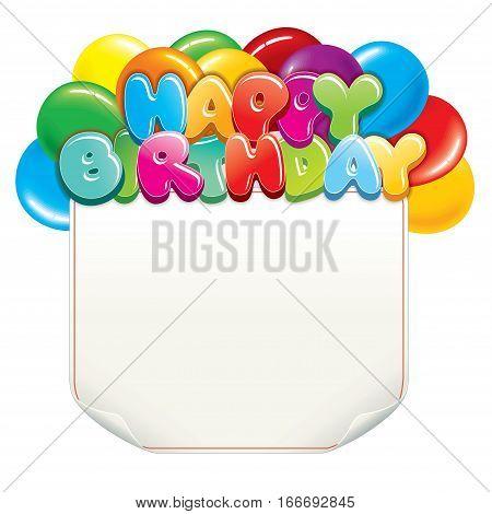 Happy Birthday Banner. vector image for design
