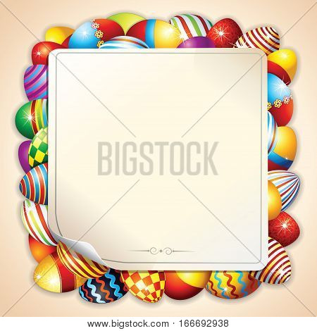 Happy Easter Background. Vector Ready for Text and Design.