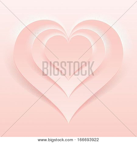 Soft and Light Pink Color Valentine Day Backdrop. Vector