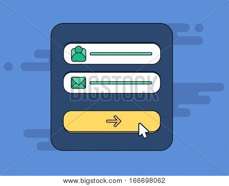 Web Template Of Computer Login Form