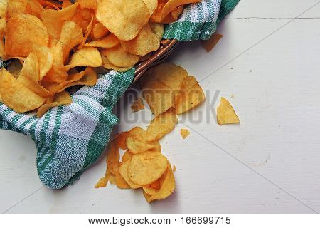 Chips And Raw Potatoes