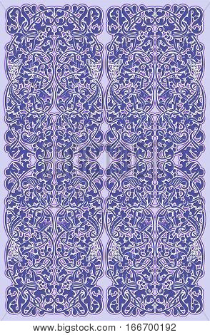 Seamless vintage pattern in lilac light violet color. Can be used for wallpapers backgrounds fabric wrapping paper.