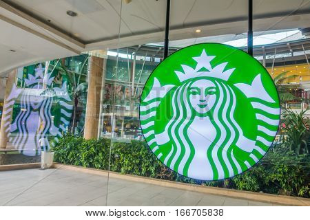 Bangkok Province, Thailand - Oct 04, 2016 :Starbucks Coffee. Starbucks is the largest coffeehouse company in the world, with 20,891 stores in 62 countries