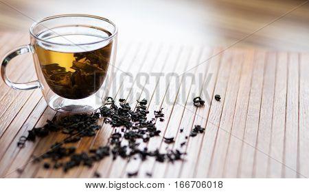 Cup of  tea. Hot  Teacup for breakfast